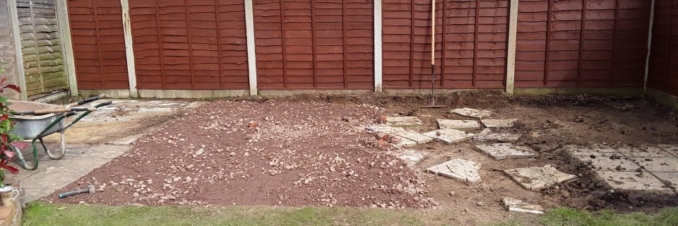 Breaking up and removal