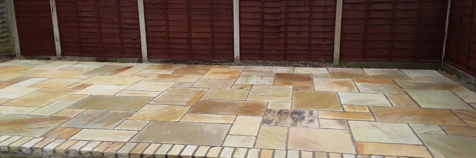 With a brick edging added